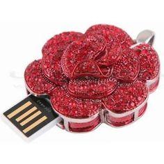 Pendrive Personalizado Joias - Rosas vermelhas brilhante R$81.00