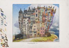 Jacek Yerka - Art Collection: Giełda