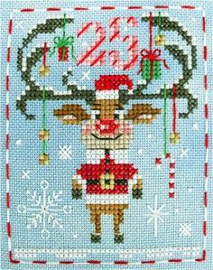 You're going to love BBP Advent Animal Rudolph Reindeer by designer Brooke Nolan. Xmas Cross Stitch, Cross Stitch Charts, Cross Stitching, Cross Stitch Embroidery, Hand Embroidery, Christmas Card Crafts, Christmas Cross, Reindeer Christmas, Modern Cross Stitch Patterns