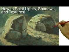 Video & Text Art of John Magne Lisondra Painting tutorial on how to paint realistic lights, shadows and textures painting rock in a step by step easy and basic acrylic painting tutorials for beginners and advanced artists. Watercolor Art Lessons, Acrylic Painting Techniques, Painting Videos, Art Techniques, Painting & Drawing, Painting Tips, Watercolour, Light Painting, Texture Painting