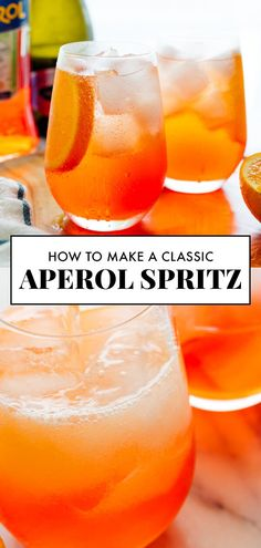 Classic Aperol Spritz Recipe – Cookie and Kate Learn how to make a classic Aperol spritz with this easy recipe! These Italian cocktails are bubbly and refreshing, and so easy to make at home. Pretend you're in Positano and pour yourself an Aperol spritz! Tonic Cocktails, Italian Cocktails, Refreshing Cocktails, Summer Cocktails, Cocktail Drinks, Alcoholic Drinks, Easy To Make Cocktails, Classic Cocktails, Aperol Drinks