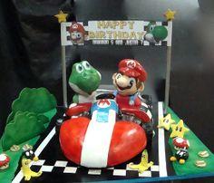 Mario Kart Cake by debbiedoescakes