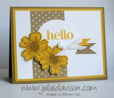 Stampin' Up! Flower Shop Control Freaks Convention Swap Card by Julie Davison, http://www.juliedavison.com
