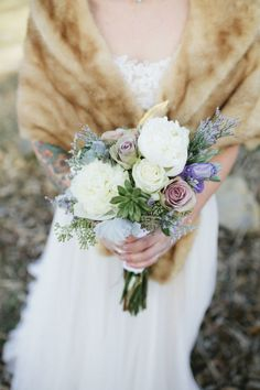 Rustic bouquet: http://www.stylemepretty.com/georgia-weddings/2015/05/08/rustic-cabin-winter-wedding/ | Photography: Amanda Lenhardt - http://www.amandalenhardt.com/