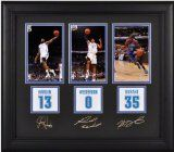 Kevin Durant, James Harden And Russell Westbrook Framed Photographs | Details: 4X6, Oklahoma City Thunder, Facsimile Signatures, Jersey Number Replica Miniatures - http://weheartokcthunder.com/okc-thunder-fan-shop/kevin-durant-james-harden-and-russell-westbrook-framed-photographs-details-4x6-oklahoma-city-thunder-facsimile-signatures-jersey-number-replica-miniatures