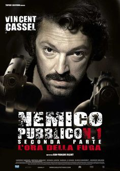 Mesrine is a two-part (Mesrine: Killer Instinct and Mesrine: Public Enemy Number One) 2008 French film. Directed by Jean-François Richet and written by Abdel Raouf Dafri and Richet. The first part's script was based on the autobiographical book L'instinct de mort by French gangster Jacques Mesrine, while the second part detailed Mesrine's criminal career after his escape from prison, and his subsequent brutal end.