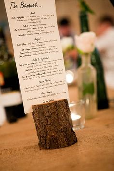 wooden menu holder More