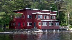 The Christmas Tree Inn. Rustic Maine lakefront lodge built in 1938 in  Bridgton, ME.