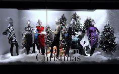 Diseño de escaparates de Navidad en color blanco