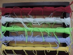 Wrap the Yarn Around the Wooden Frame.