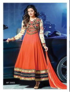 Kajal Agarwal Designer Semi Stitched Salwar Suit - http://member.bulkmart.in/product/kajal-agarwal-designer-semi-stitched-salwar-suit-9/