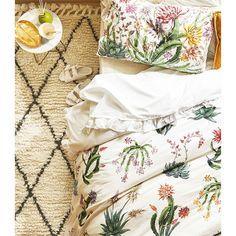 Reversible cactus print duvet cover -  | Zara Home Ireland