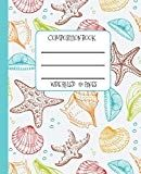 Wide Ruled Composition Book: Pretty Sea Shells Themed Composition Notebook for school, work, or home! Keep your notes neat and organized while you . and surf! Surf Accessories, Sea Shells, Notebooks, Surfing, Composition, Product Description, Lovers, Organization, School