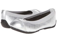 FootMates Lynne (Toddler/Little Kid) Silver Woven - Zappos.com Free Shipping BOTH Ways
