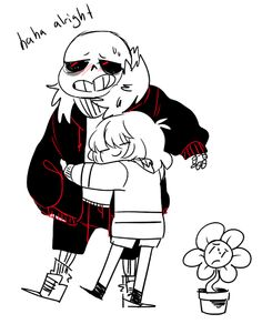 underfell Sans and Frisk