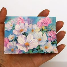 Small Canvas Paintings, Easy Canvas Art, Small Canvas Art, Mini Canvas Art, Small Paintings, Small Art, Acrylic Paintings, Acrylic Painting Flowers, Acrylic Art