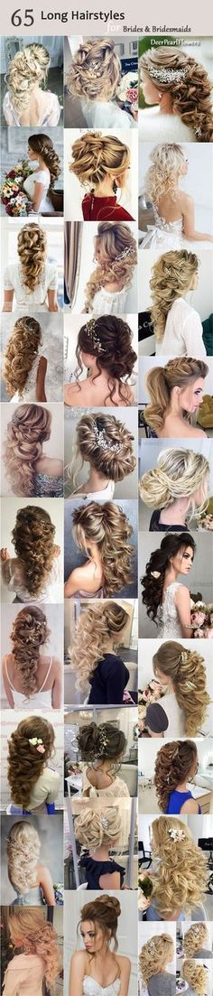 Long Wedding Bridesmaid Hairstyles & Bridal Updos / http://www.deerpearlflowers.com/long-bridesmaid-hair-bridal-hairstyles/