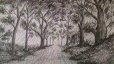Cómo dibujar un sencillo paisaje a lápiz,aprender a dibujar bocetos de p...