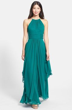 mother of the bride Free shipping and returns on Eliza J Chiffon Halter Gown at Nordstrom.com. A choker-threaded halter neckline adds a flash of modern metallic sheen to a long and flowy chiffon gown shaped by a crisscrossed waist.