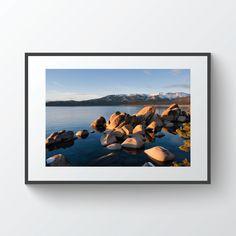 Nevada California, Harbor Beach, Glass Printing, Snow Mountain, Beach Print, Lake Tahoe, Prints For Sale, Digital Prints, Sunset
