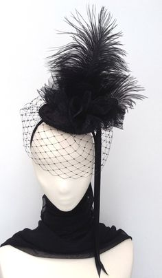 Gothic Neo Victorian Burlesque Fascinator Headpiece by Blackpin