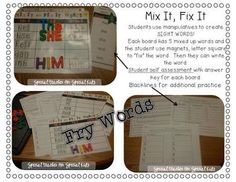 MIX IT, FIX IT- SIGHT WORD ACTIVITIES AND PRINTABLES {FRY WORDS} - $