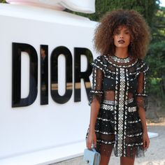 Celebrities dressed in dior at Miss Dior Eau de Parfum Event in France including Natalie Portman, Lara Worthington and Lily Donaldson. Black Women Fashion, Cute Fashion, Fashion Outfits, Miss Dior, Tina Kunakey, Celebrity Dresses, Evening Dresses, Cute Outfits, Style Inspiration