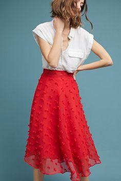 Slide View: 4: Marlow Textured Skirt