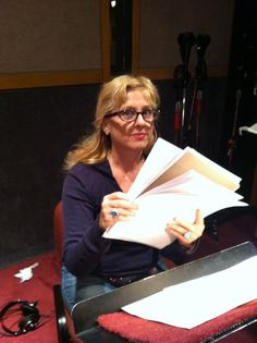 Kimmy, voice of Penny Wise, in studio.