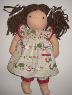 "Reserved for Olive Red Riding Hood Dress for 18"" Pookidoll"