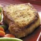 Breaded Pork Chops- use egg wash instead of ranch. cook for 35-40 mins