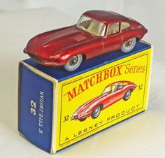 A-LESNEY-Matchbox-Regular-Wheels-No-32b-Jaguar-E-Type-67