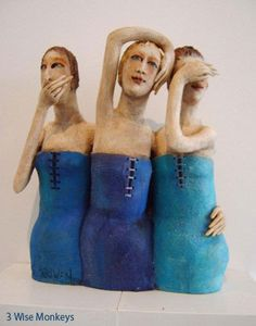 Els Houwen - Australian Sculptor Speak No Evil, Hear No Evil, See No Evil