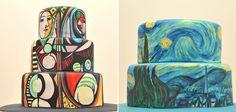 Des peintures célèbres sur des gâteaux via @creapills