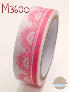 Washi tape encaje rosita