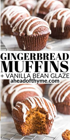 Christmas Muffins Recipe, Gingerbread Muffins Recipe, Gingerbread Recipes, Fall Baking, Holiday Baking, Christmas Baking, Easy Baking Recipes, Muffin Recipes, Bakery Muffins