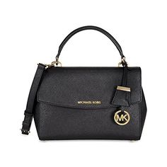 7d28aeb2ac44 MICHAEL Michael Kors Women's Ava Small Satchel, Black, One Size ** Want to
