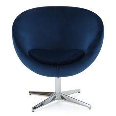 isla modern new velvet chair navy blue christopher knight home