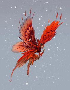 Cardinal Fairy Digital Art by Stanley Morrison