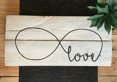 INFINITE LOVE pallet sign. You are loved wholly, truly, infinitely. thevintagepallet@mail.com Instagram: @thevintagepallet