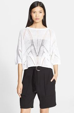 Helmut Lang 'Fractured Lace' Short Sleeve Knit Top available at #Nordstrom