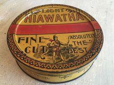 LIGHT HIAWATHA 1lb ROUND TOBACCO TIN