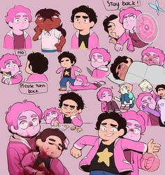 I love this so much omg Btw this is not a ship, I'm not a big fan of Pink Steven X Steven (sorry ) it's just Pink Steven is a little too over protective because he knows how fragile his human half is XD 💕 Steven Universe Anime, Steven Universe Drawing, Steven Universe Funny, Universe Art, Diamante Rosa Steven Universe, Steven Univese, Cartoon Shows, Fantasy, Cute Art