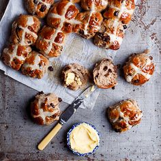 Extra-spicy chocolate chunk hot cross buns, perfect for Easter brunch.
