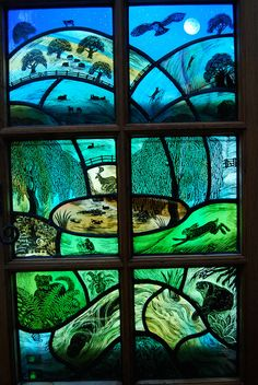 'Herefordshire Garden' by stained glass artist Tamsin Abbott