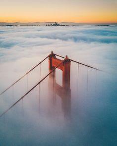 Golden Gate Bridge by Andrew Optics #sanfrancisco #sf #bayarea #alwayssf #goldengatebridge #goldengate #alcatraz #california