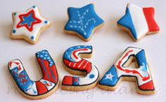 Winter Olympics and Team USA cookies