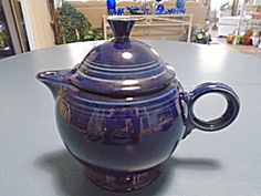Homer Laughlin Fiesta Tea Pot Cobalt/navy Blue