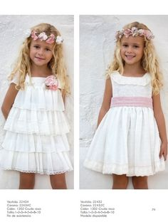CEREMONIA ARTESANÍA AMAYA  2017      Para realizar tus compras entra en nuestra tienda online  www.anabelmoda.com    ¡Hacemos envíos a ... Cute Girl Dresses, Girls Party Dress, Little Girl Dresses, Baby Dress, Flower Girl Dresses, Toddler Fashion, Kids Fashion, Fashion Outfits, Dress With Bow
