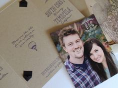 Brynne's Travel-Inspired Vineyard Save the Dates, Design and Photo Credits: Harken Press